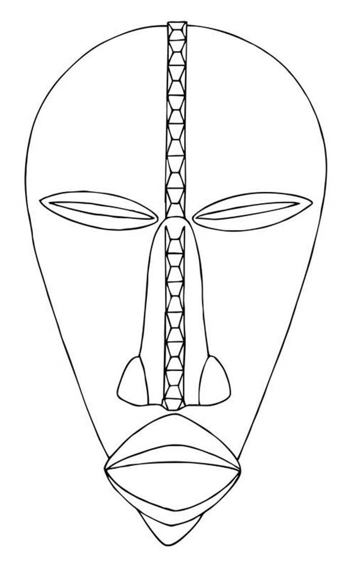 Blog do Professor Eduardo: Máscara Africanas para Pintar | ARTE ...
