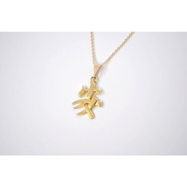 Gold Filled Chinese Symbol Necklace 5 Options 19 Liked On