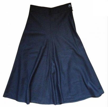 Jupe Rétro VANESSA #BRUNO 100% Laine vierge 36 / Bleu, bleu marine, bleu turquoise / 36 (S, T1) FR / Laine / Automne - Hiver