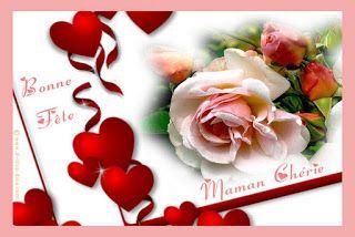 Carte Bonne Fete Des Meres Avec Des Tulipes With Images