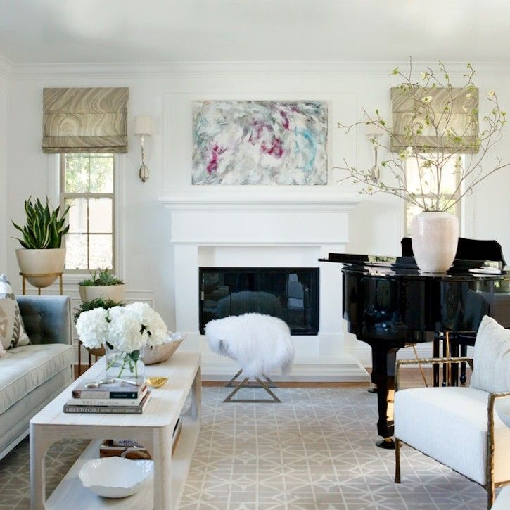 Portfolio Owens Davis Piano Living Rooms Grand Piano Living Room Neutral Modern Living Room