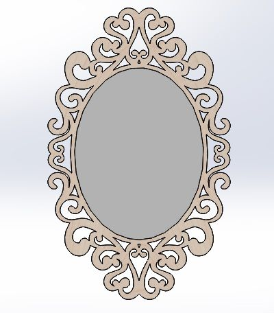 Frame For A Mirror Made In Solidworks Espejos Marcos