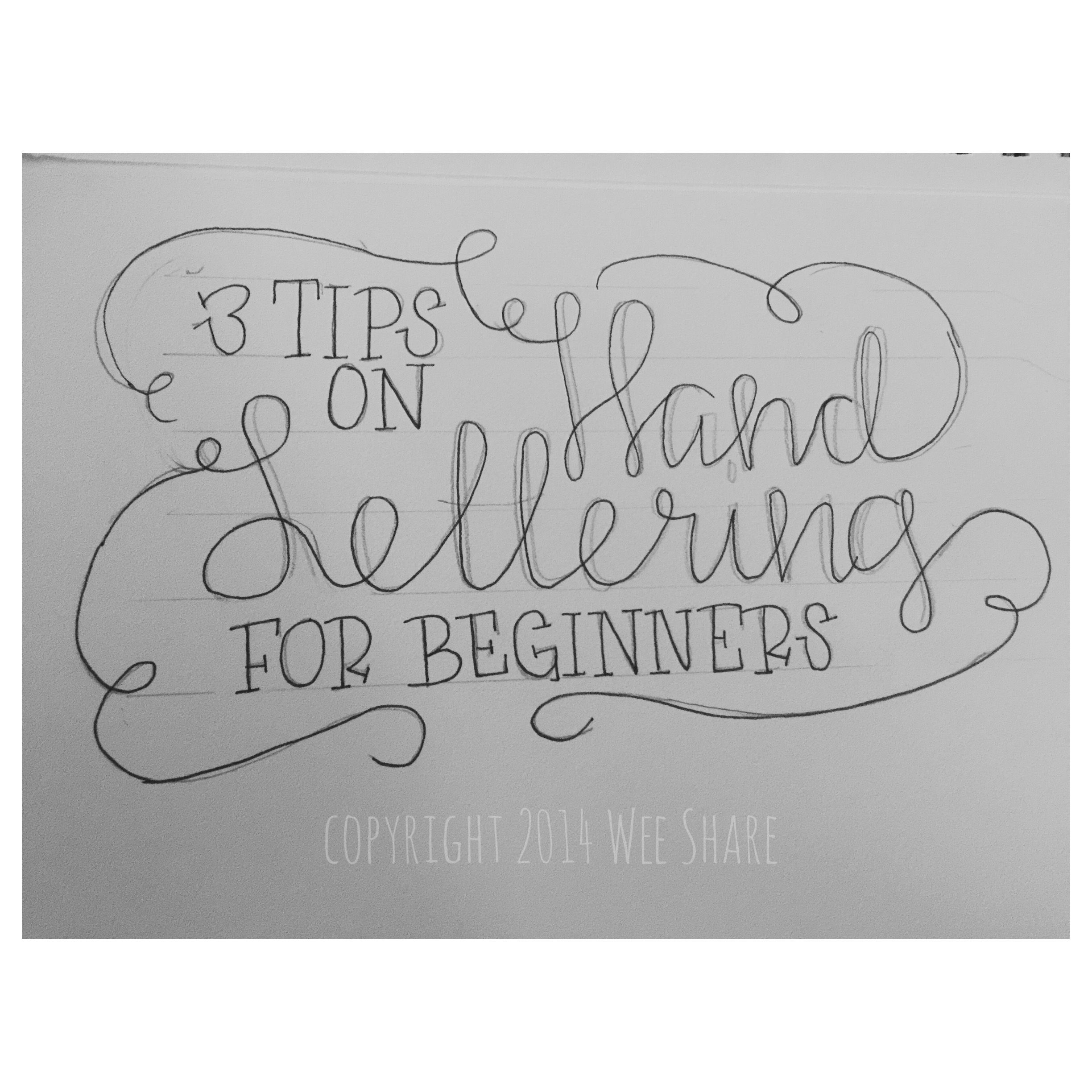 Tip use a pencil tips on hand lettering for