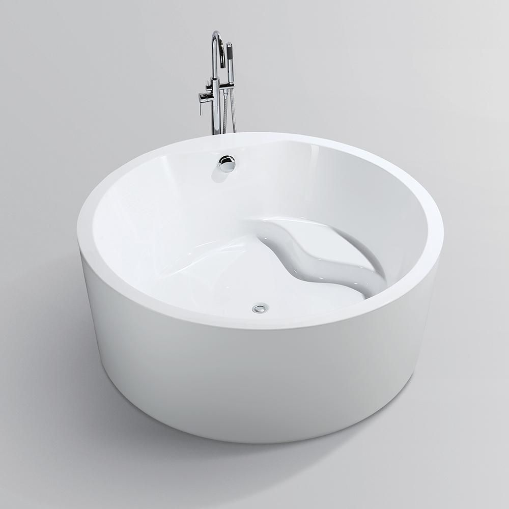 Vanity Art Troyes 59 In Acrylic Flatbottom Freestanding Bathtub In White Va6810 The Home Depot In 2020 Soaking Bathtubs Free Standing Bath Tub Bathtub
