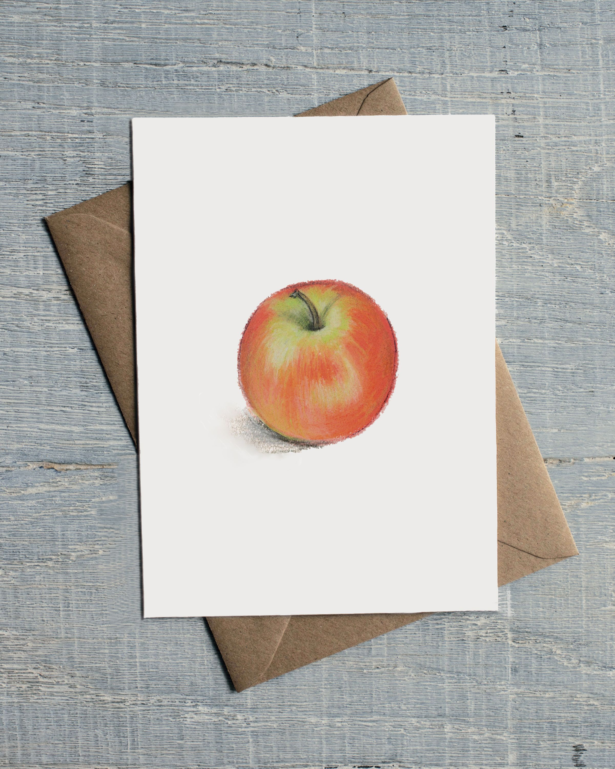 Apple Greetings Card Blank For Any Occasion 300gsm Card 127 X