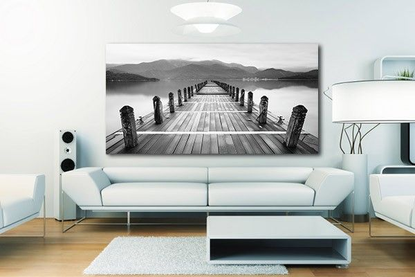 Tableau noir et blanc Accostage | Tableaux de paysages ...