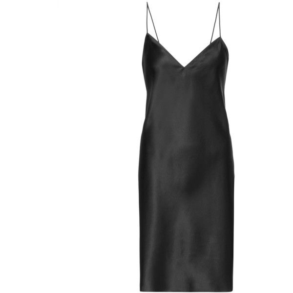 f4241c67e418 Saint Laurent Silk Slip Dress ($1,060) ❤ liked on Polyvore featuring  dresses, black, slip dress, yves saint laurent dresses, silk slip dress, yves  saint ...