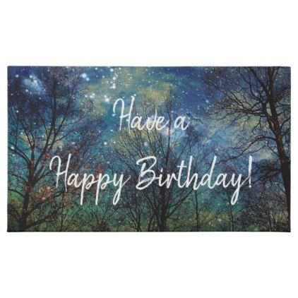 Mystical Celestial Forest Happy Birthday Assorted Chocolates Nature Diy Customize Sprecial Des Blue Birthday Parties Happy Birthday Wishes Star Birthday Party