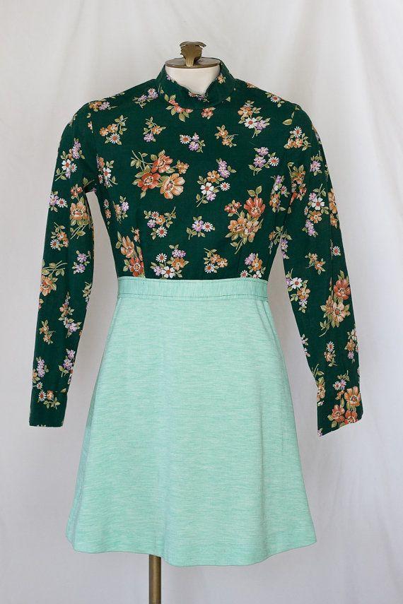 1960s mini skirt suit by TimeTravelFashions on Etsy