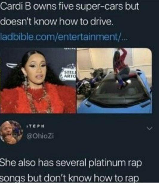 Cardi B Is Trash Funny Instagram Posts Funny Relatable Memes Funny Memes