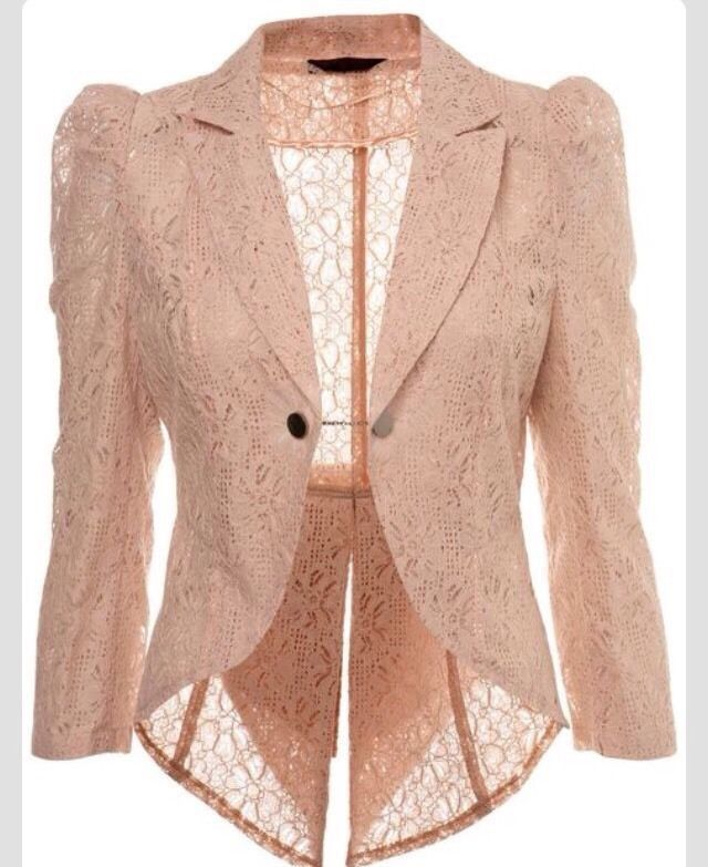 Miss Selfridges Nude Lace Tail Blazer in Kleidung   Accessoires, Damenmode,  Jacken   Mäntel   eBay b3cf65f674