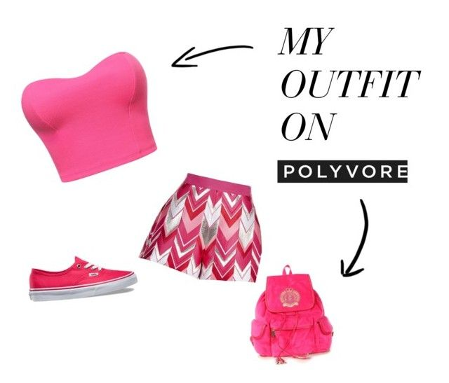 """""""pink"""" by emilylizza ❤ liked on Polyvore featuring Giambattista Valli, Vans and Juicy Couture"""