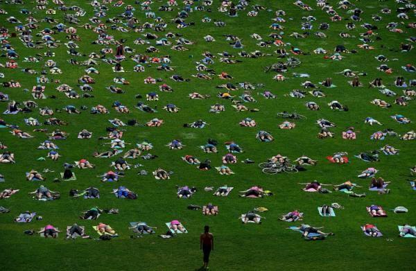"""""""Yoga en la colina"""" en Canadà"""