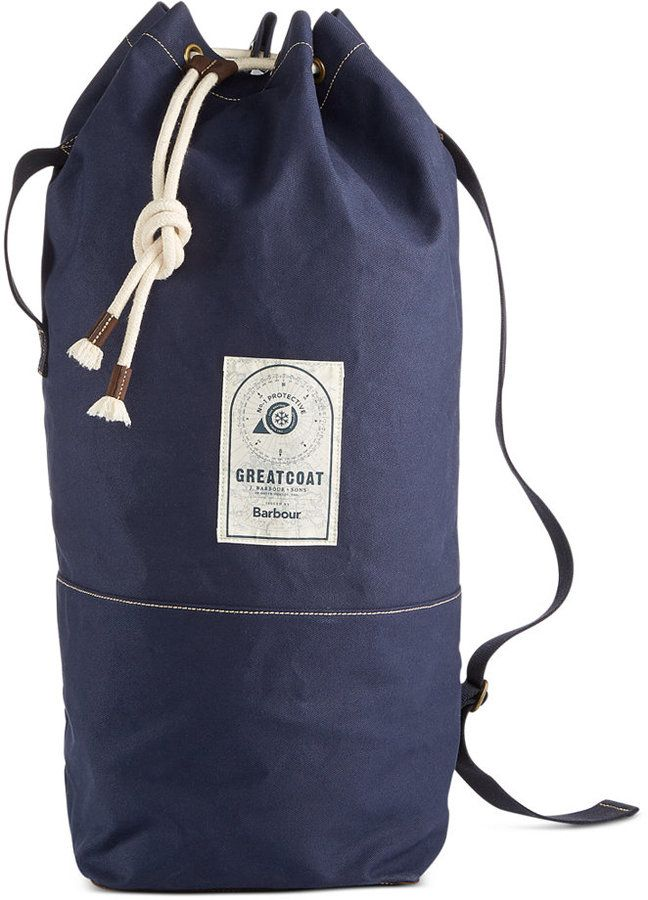 3dcdba0b014 Barbour Men s Navy Duffle Bag