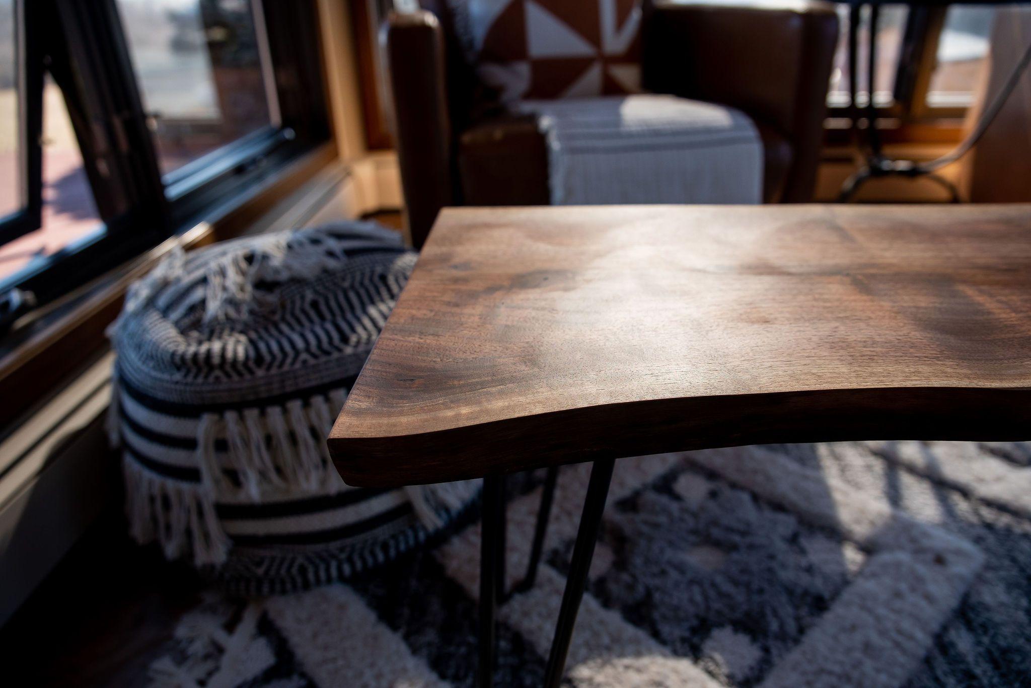 Live Edge Walnut Dining Table, Solid Walnut Kitchen Table