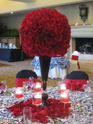 Please Help With Ideas Wedding Centerpieces Flowers Red FHCC Tall Centerpiece Roses