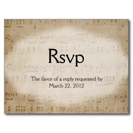 Music Wedding Theme Invitation With Matching Dinner Choice Rsvp Save The Date Just Add A Postage Stamp And These Are One Step No Envelope Needed Reply