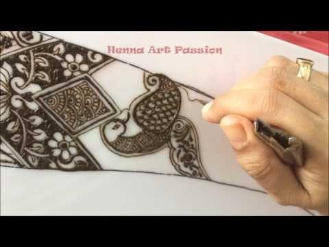Bridal Mehndi Gta : Traditional intricate bridal mehendi peacock design episode