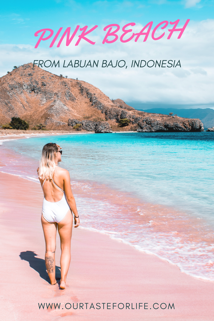 THE FAMOUS PINK BEACH FROM LABUAN BAJO, INDONESIA