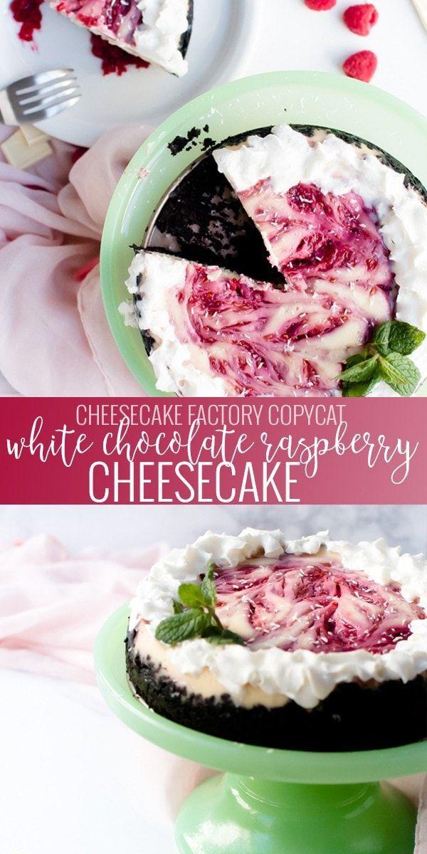 White Chocolate Raspberry Cheesecake Recipe | Oh So Delicioso