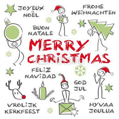 merry christmas mehrsprachig Frohe Weihnachten