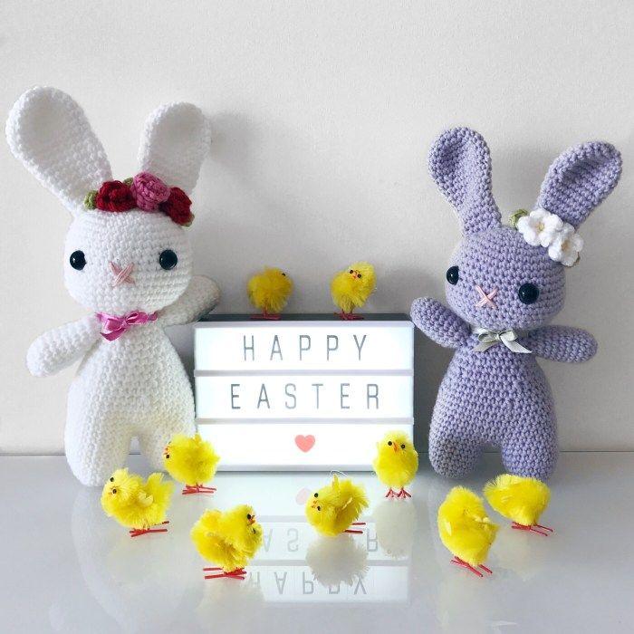 Easter Bunny Crochet Pattern – ZoeCreates | Amigurumi | Pinterest | Lana