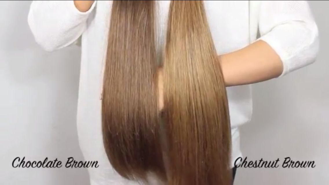 Bellami Extensions: Ccolate Brown vs. Chestnut Brown | Hair n ...