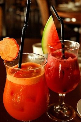 Watermelon cocktail without alcohol