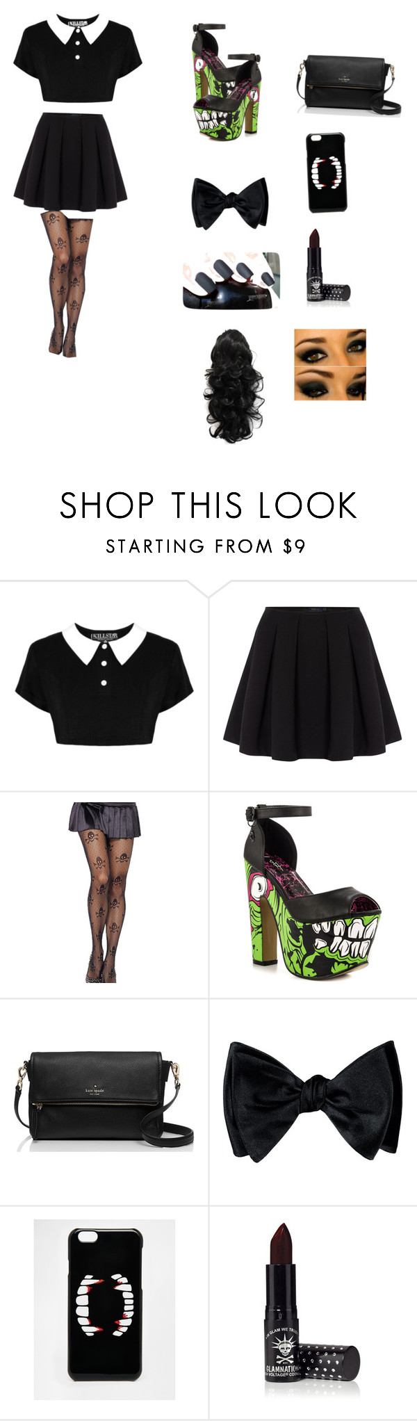 """""""Untitled #63"""" by usmc10069 ❤ liked on Polyvore featuring Polo Ralph Lauren, Iron Fist, Kate Spade, ASOS and Manic Panic"""