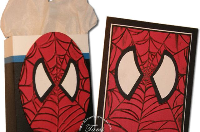 Spiderman Cards & Box Favors - Stampin Up by Tami White. http://stampwithtami.com/blog/2010/09/spiderman/