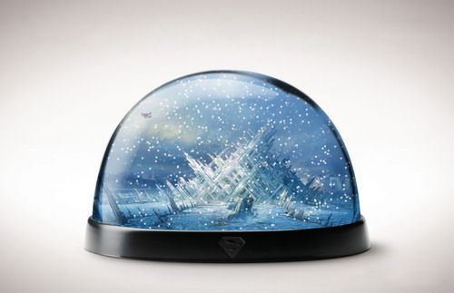 Snowglobe of Solitude. Someone please invent this for me. Thanks.#Superman