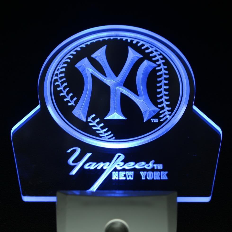 New York Yankees Led Night Light Sign Led Night Light Lighted Signs Night Light