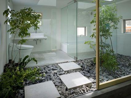 Banos Con Jardin Decoracion De Banos Pequenos Jardin Interior