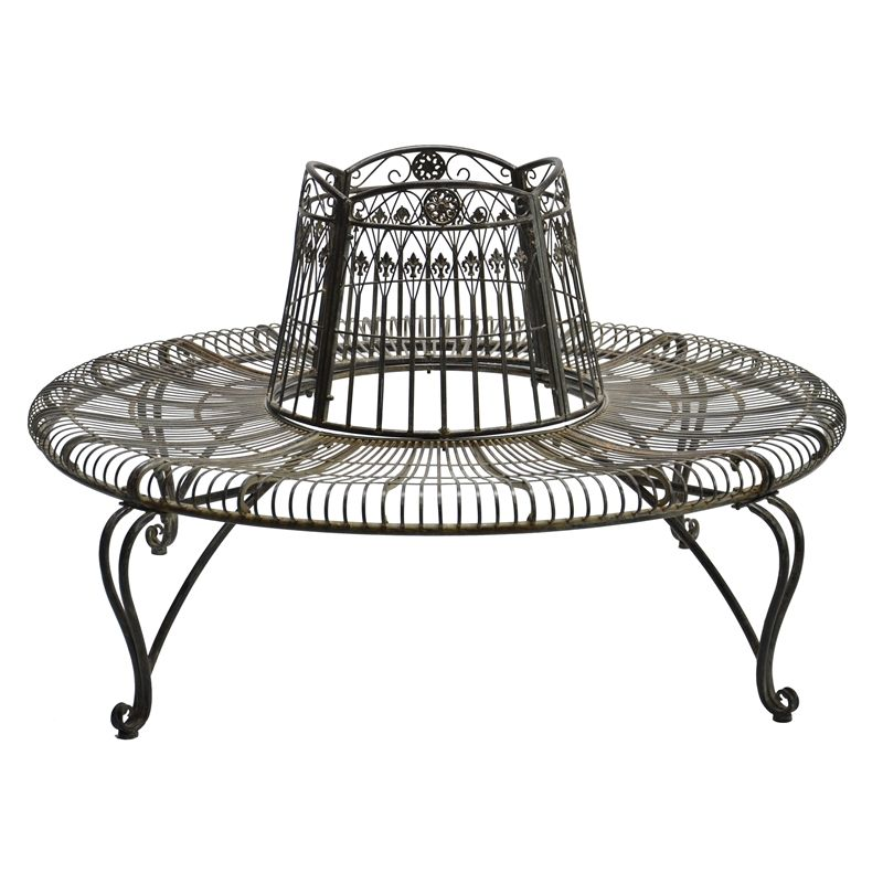 Marquee Rustic Iron Tree Surround Bench I N 3191362 Bunnings