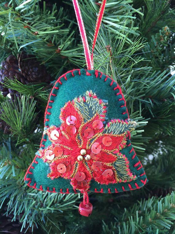 Felt Christmas ornament felt jingle bells Christmas decoration