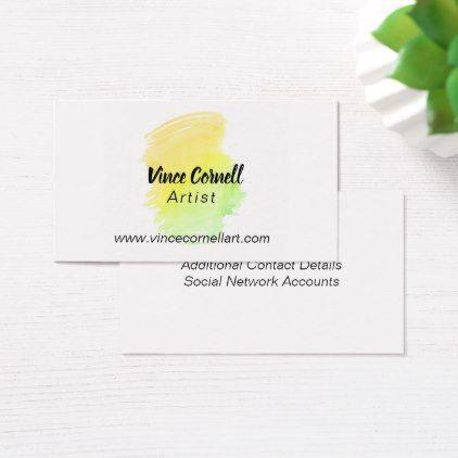 Spring watercolor splash business cards colourmoves