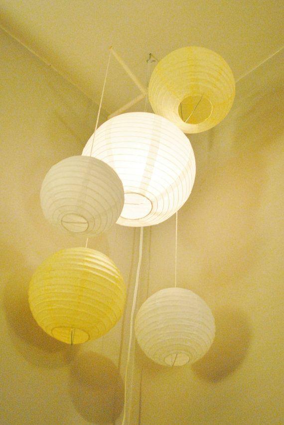 Lighted Paper Lantern Mobile Lighted Paper Lantern