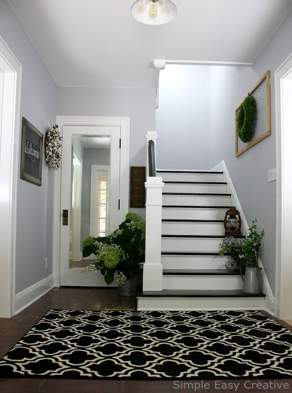 Modern Farmhouse Foyer Makeover A New Coat Of Paint