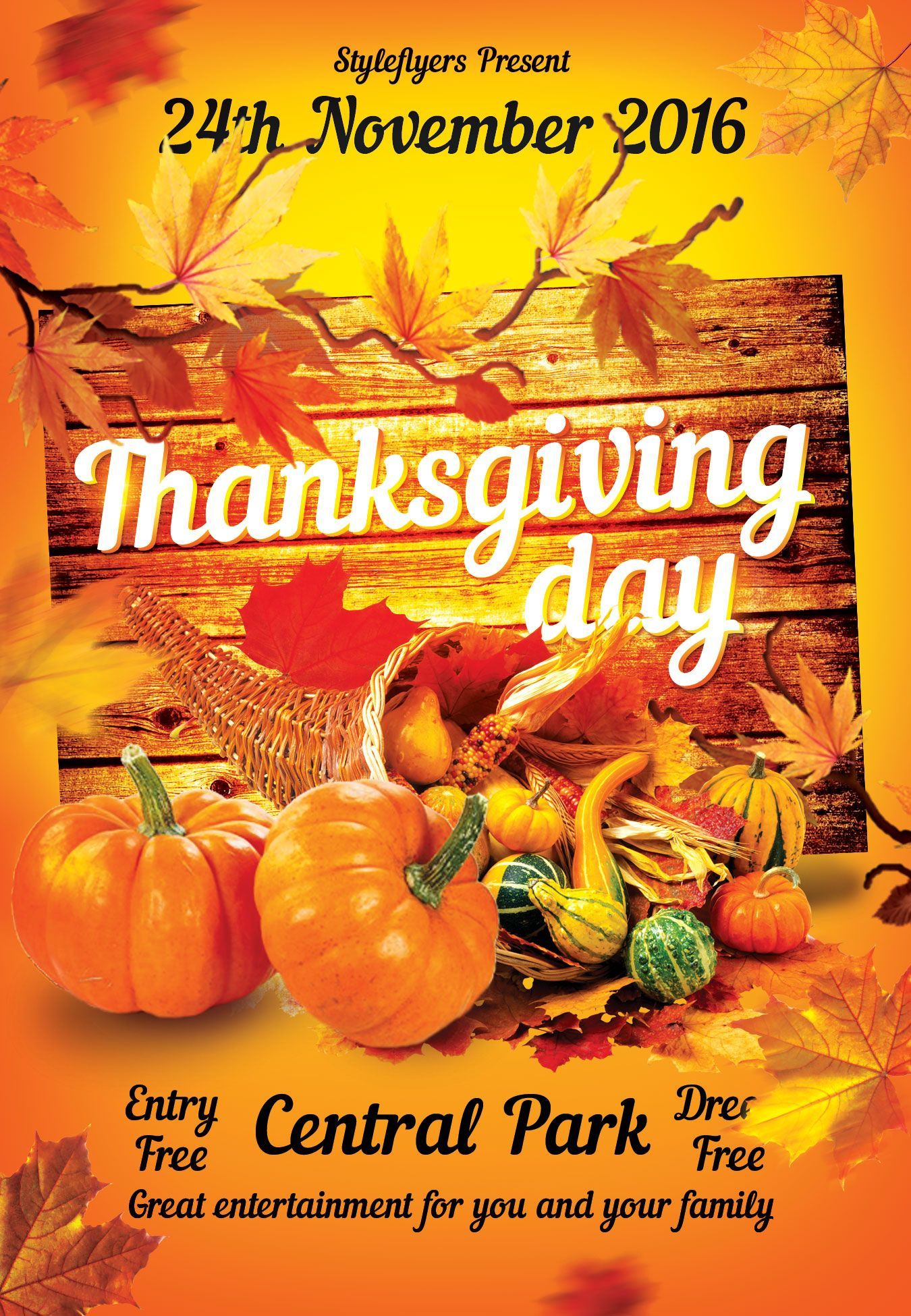 Thanksgiving Free Psd Flyer Template Free Download 12116 Flyers