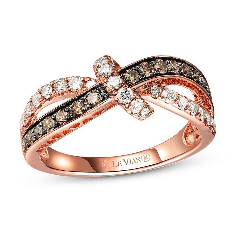 Le Vian Chocolate Diamond Ring 5/8 ct tw 14K Strawberry