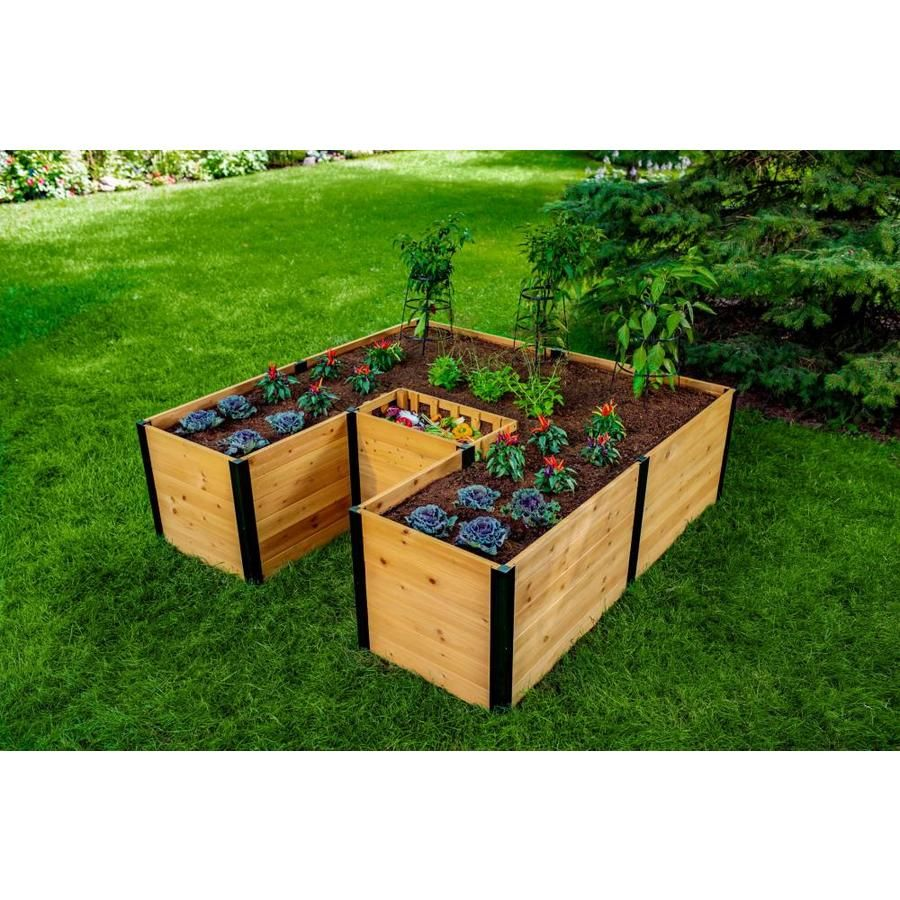 New England Arbors 72 In W X 72 In L X 22 In H Golden Brown Wood Cedar Raised Garden Bed Vt17707 In 2020 Cedar Raised Garden Beds Raised Garden Beds Raised Garden