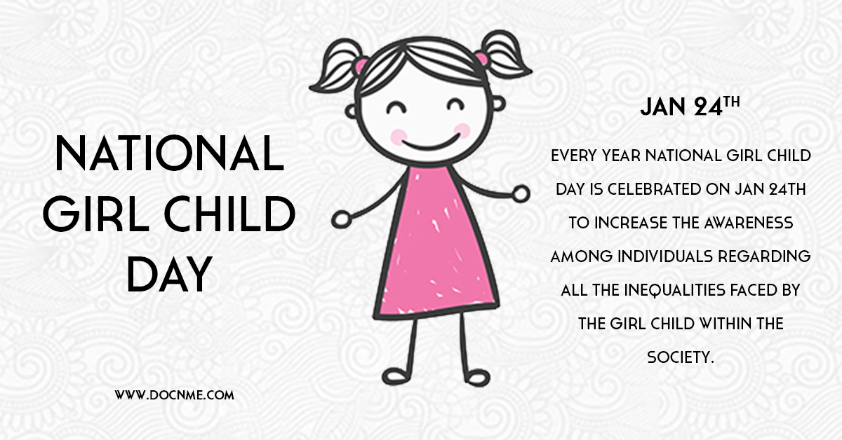 Every year National girl child day is celebrated on