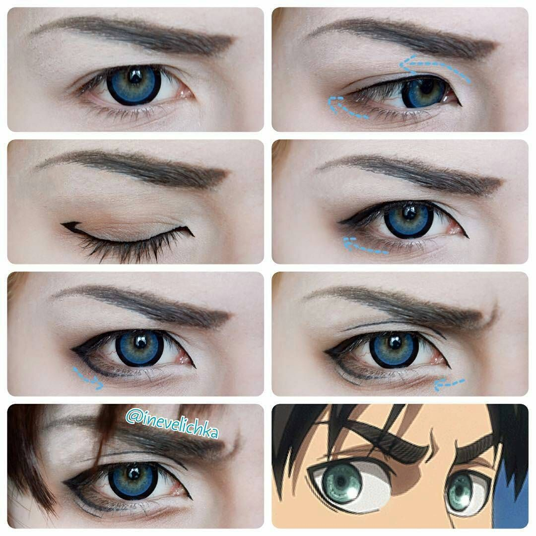 Regrann from inevelichka eren yeager makeup tutorial explore cosplay tutorial cosplay makeup and more baditri Gallery