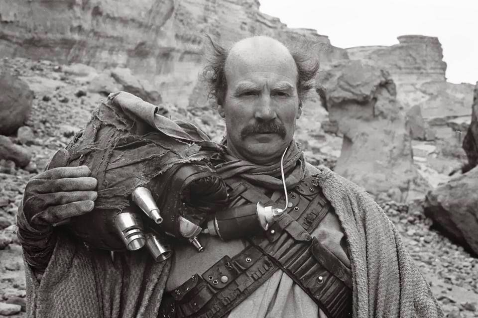 Tusken Raider Unmasked Actor Peter Diamond Removes His