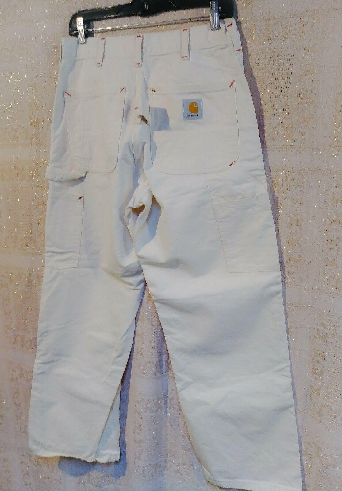 Vtg Carhatt Canvas Worker Carpenter Pant