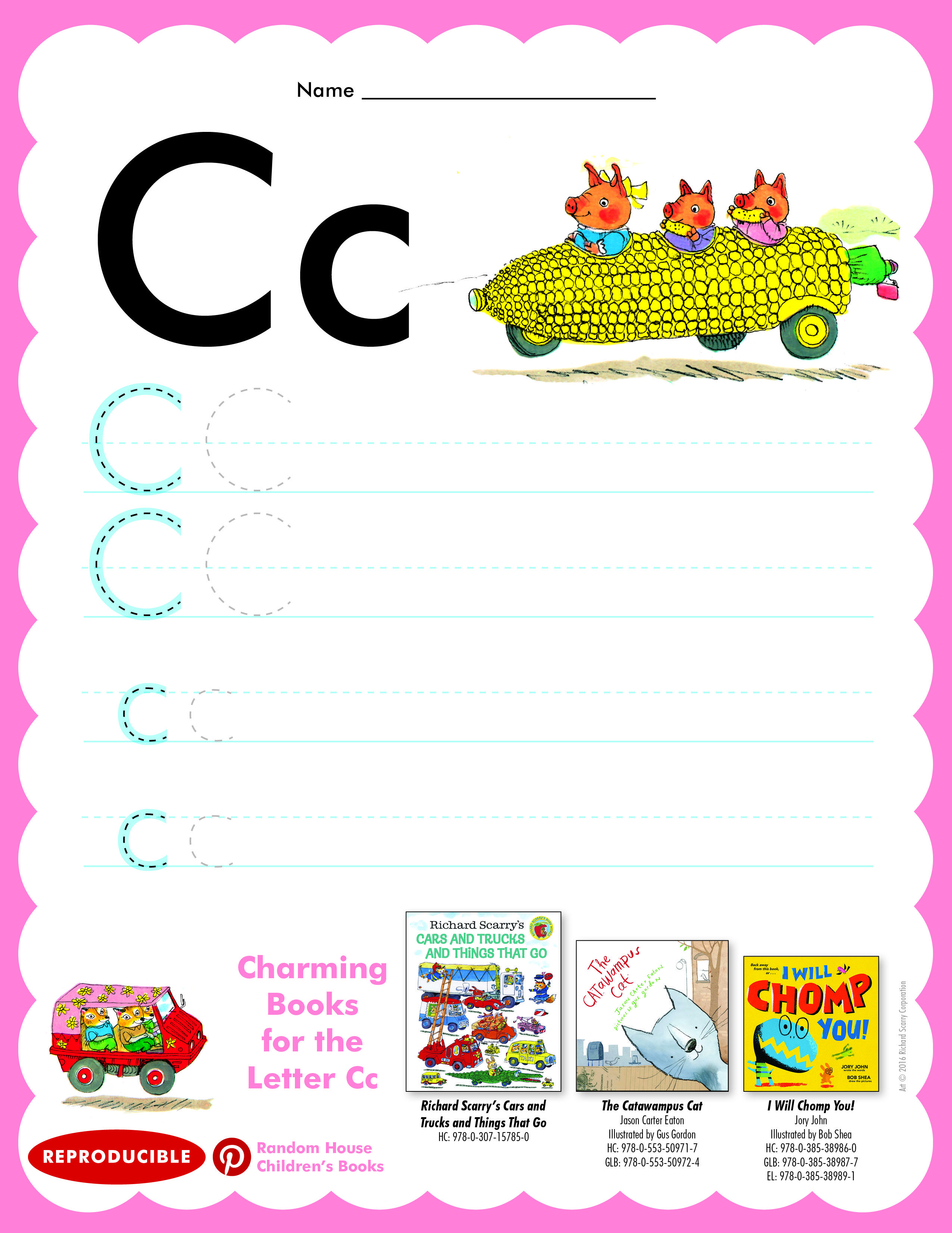 Have Students Practice Writing Letter Cc Then Read Cars