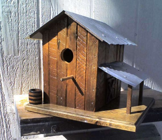 Tobacco Barn Replica Birdhouse Built With Old By