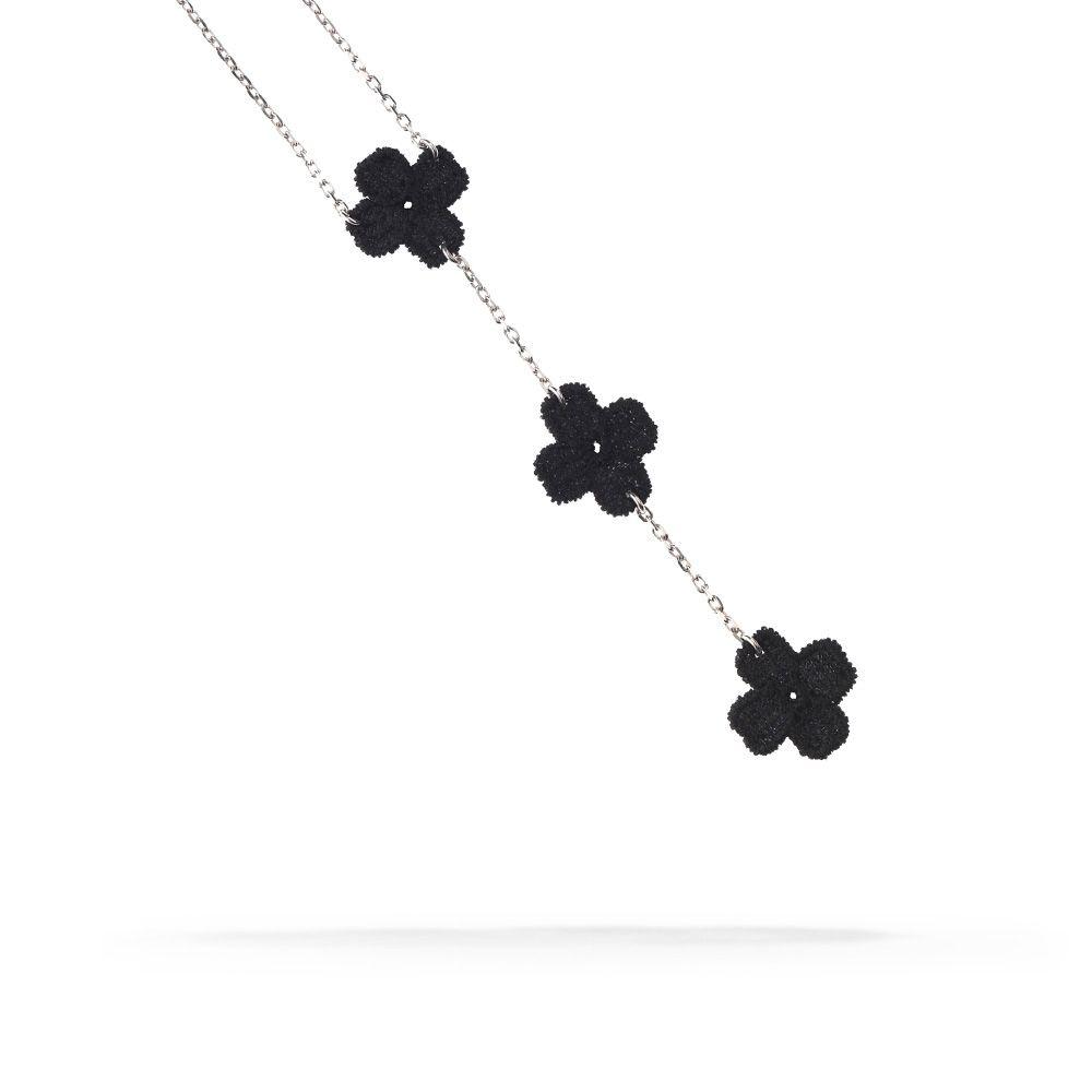 Black Unforgivably Chic Trilogy Necklace. From Cruciani C  #necklace #trilogy