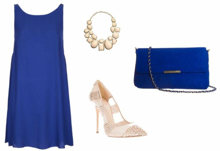Combinar un vestido azul klein