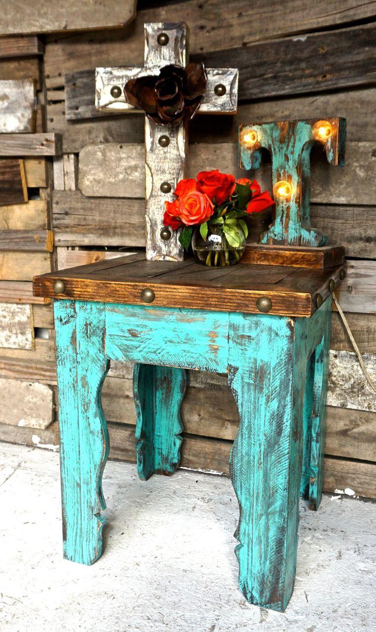 Elegant Curvas Rustic Side Table   Sofiau0027s Rustic Furniture
